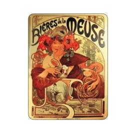 Cedule Alfons Mucha – Bieres, 15 x 21 cm
