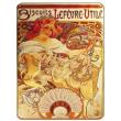 Cedule Alfons Mucha – Biscuits, 15 x 21 cm