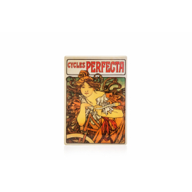 Metal sign Alfons Mucha – Cycles Perfecta, 15 x 21 cm