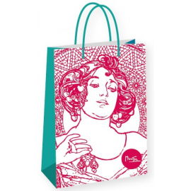 Gift bag Alfons Mucha – Ruby, Fresh Collection, large