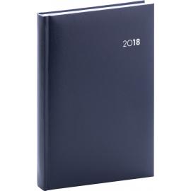 Denní diář Balacron 2018, tmavě modrý, 15 x 21 cm, A5