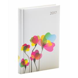 Denní diář Cambio - Květiny 2017, 11 x 17 cm, B6