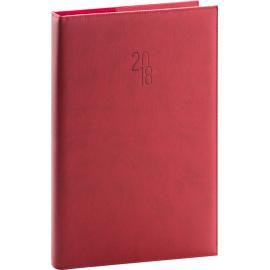 Denní diář Prestige 2018, červený, 21 x 29,7 cm, A4