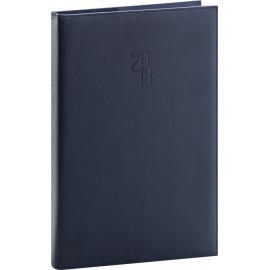 Denní diář Prestige 2018, modrý, 21 x 29,7 cm, A4