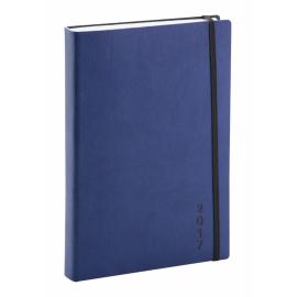 Denní diář Soft 2017, modročerný, 15 x 21 cm, A5
