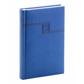 Denní diář Vivella 2017, modrý, 11 x 17 cm, B6