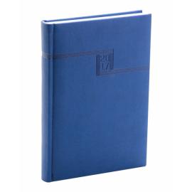 Denní diář Vivella 2017, modrý, 15 x 21 cm, A5