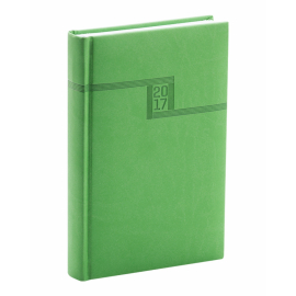Denní diář Vivella 2017, zelený, 11 x 17 cm, B6