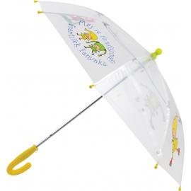 Children umbrella transparent Kouzelná školka, 66 cm