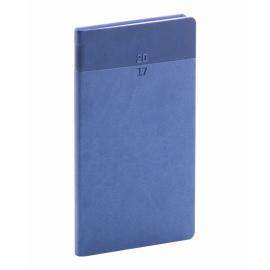 Kapesní diář Aprint 2017, modrý, 9 x 15,5 cm