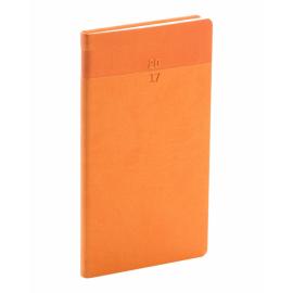 Kapesní diář Aprint 2017, oranžový, 9 x 15,5 cm