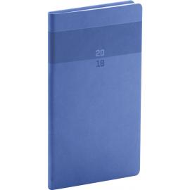 Pocket diary Aprint 2018, modrý, 9 x 15,5 cm