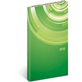 Pocket diary Cambio – Kruhy 2018, 9 x 15,5 cm