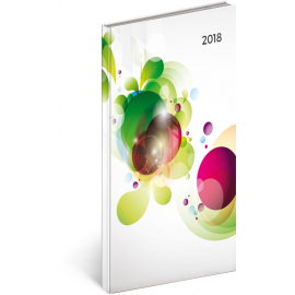 Pocket diary Cambio – Květiny 2018, 9 x 15,5 cm