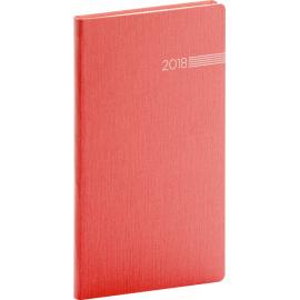 Pocket diary Capys 2018, červený, 9 x 15,5 cm