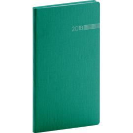 Pocket diary Capys 2018, zelený, 9 x 15,5 cm