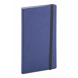 Kapesní diář Soft 2017, modročerný, 9 x 15,5 cm