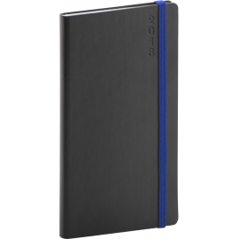Pocket diary Soft 2018, černomodrý, 9 x 15,5 cm