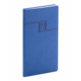 Kapesní diář Vivella 2017, modrý, 9 x 15,5 cm