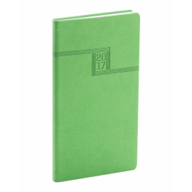 Kapesní diář Vivella 2017, zelený, 9 x 15,5 cm