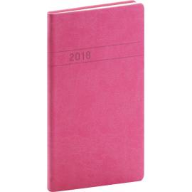 Pocket diary Vivella 2018, magenta, 9 x 15,5 cm