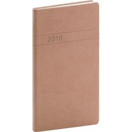 Pocket diary Vivella 2018, středně hnědý, 9 x 15,5 cm