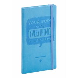 Kapesní diář Vivella speciál 2017, středně modrý, 9 x 15,5 cm