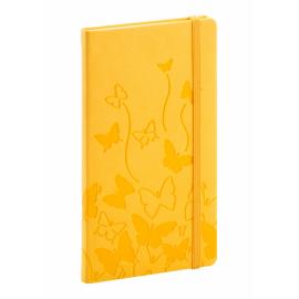 Kapesní diář Vivella speciál 2017, žlutý, 9 x 15,5 cm