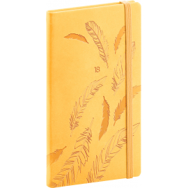 Kapesní diář Vivella speciál 2018, žlutý, 9 x 15,5 cm