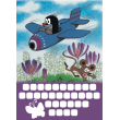 The Little Mole wall sticker calendar, 33 x 46 cm