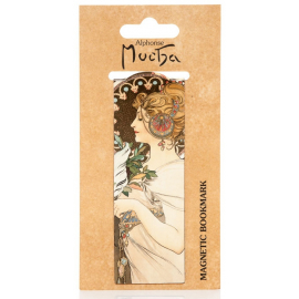 Magnetic bookmark Alfons Mucha – Feather