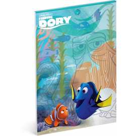 Notepad Finding Dory, A4, 50 sheets, unlined