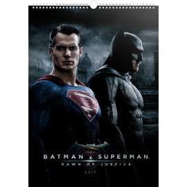 Nástěnný kalendář Batman v Superman – Plakáty 2017, 33 x 46 cm