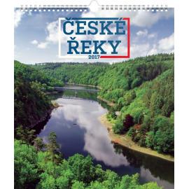 Nástěnný kalendář České řeky 2017, 30 x 34 cm