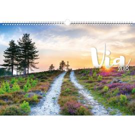 Nástěnný kalendář Cesty 2018, 48 x 33 cm