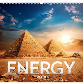Nástěnný kalendář Energie 2018, 48 x 46 cm