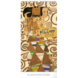Nástěnný kalendář Gustav Klimt 2018, 33 x 64 cm