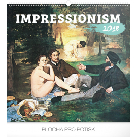 Nástěnný kalendář Impresionismus 2018, 48 x 46 cm