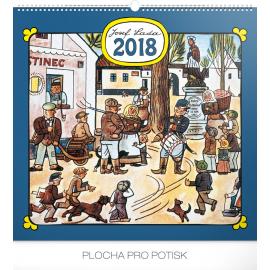 Wall calendar Josef Lada – Náves 2018, 48 x 46 cm