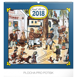 Nástěnný kalendář Josef Lada – Náves 2018, 48 x 46 cm