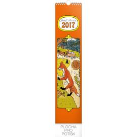Nástěnný kalendář Josef Lada – V lese 2017, 10,5 x 48 cm