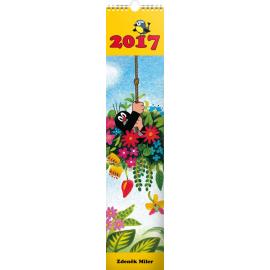 Nástěnný kalendář Krteček 2017, s pohlednicemi, 10,5 x 48 cm