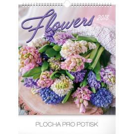 Wall calendar Flowers 2018, 30 x 34 cm