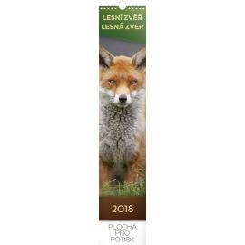 Wall calendar Lesní zvěř – lesná zver 2018, 10,5 x 48 cm