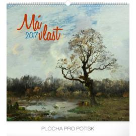 Nástěnný kalendář Má vlast – Pocta české krajinomalbě 2017, 48 x 46 cm