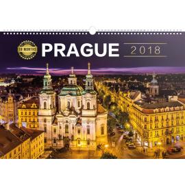 Nástěnný kalendář Praha 18měsíční 2018, 30 x 21 cm