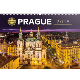 Wall calendar Praha 18měsíční 2018, 30 x 21 cm