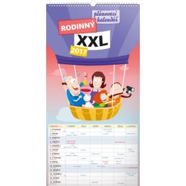 Nástěnný kalendář Rodinný plánovací XXL 2017, 33 x 64 cm