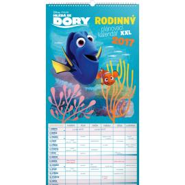 Nástěnný kalendář Rodinný plánovací XXL – Hledá se Dory 2017, 33 x 64 cm