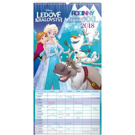Nástěnný kalendář Rodinný plánovací XXL – Ledové království 2018, 33 x 64 cm